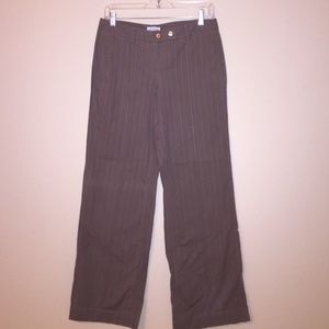 Sitwell Taupe & Pink Pinstripe Trousers 4